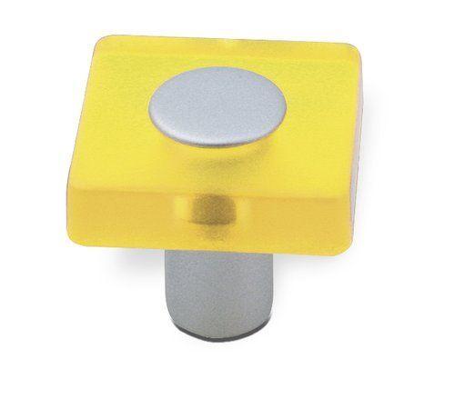 12375 - úchytka ANETA dětská, 30x30mm, žlutá