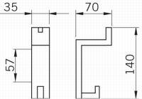 12230 - SATOS věšák satén chrom plast