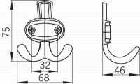 12244 - ALEXEJ věšák satén nikl