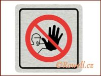 CPP 'Zákaz-nevstupovat'/nerez rowell