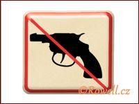 NZ 'Zákaz zbraň' /zlatá/ rowell