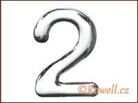 C37 Číslo 37mm stříbr. '2' rowell