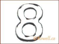 C37 Číslo 37mm stříbr. '8' rowell