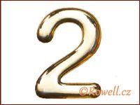 C37 Číslo 37mm zlatá '2' rowell