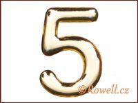 C37 Číslo 37mm zlatá '5' rowell