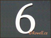 C5 Čísélko stříbro '6' rowell