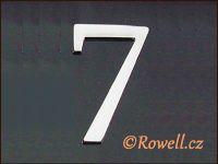 C5 Čísélko stříbro '7' rowell