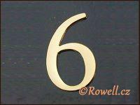 C5 Čísélko zlaté '6' rowell