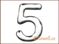 C53 Číslice 53mm stříb.'5' rowell