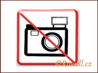 NZ 'Zákaz focení' /bílá/ rowell
