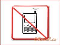 NZ 'Zákaz telefon' /bílá/ rowell