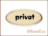 SD Štítek zlatý 'privat' rowell
