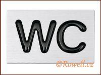 "C3D cedulka stř. ""WC"" rowell"