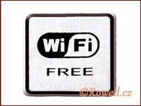 NO cedulka stříbr. 'Wi-Fi' rowell