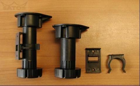 64681 - Nožka PLAST 9,5cm RT 05H, 95-125mm 62