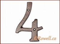 C4 Číslo 145mm kom.měď '4' rowell